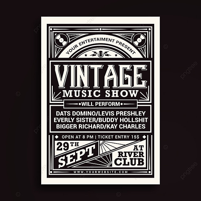 Vintage Music Show Template for Free Download on Pngtree