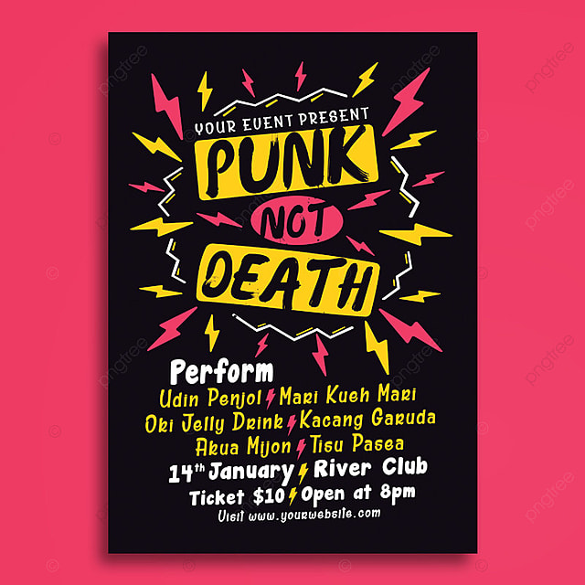 punk music event poster template for free download on pngtree