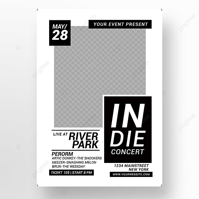 Indie Music Concert Flyer Template For Free Download On Pngtree