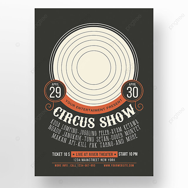 circus show poster template for free download on pngtree