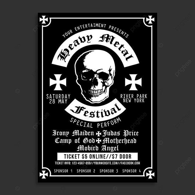 heavy metal festival poster poster template for free download on pngtree