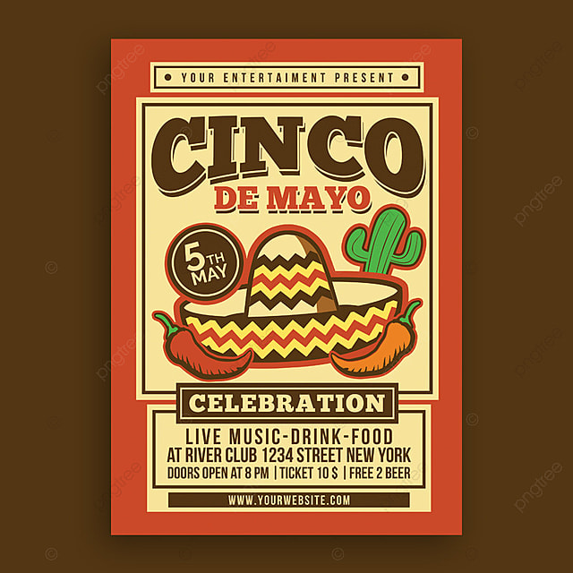 cinco de mayo celebration poster template for free download on pngtree