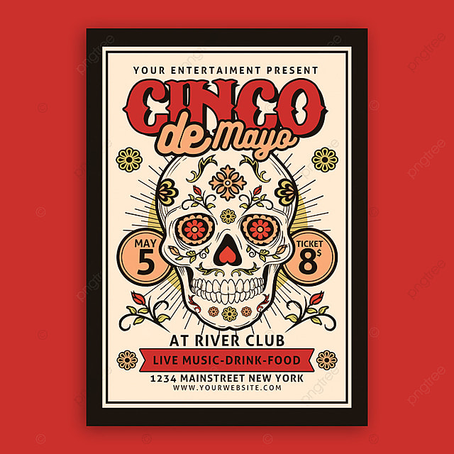 cinco de mayo poster template for free download on pngtree