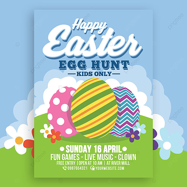 Happy Easter Egg Hunt For Kids