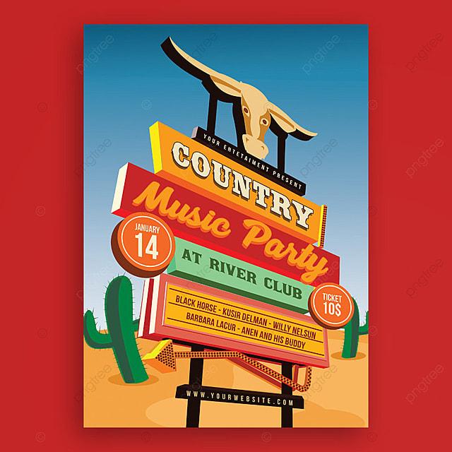 l affiche de l  u00e9v u00e9nement signature musique country rue