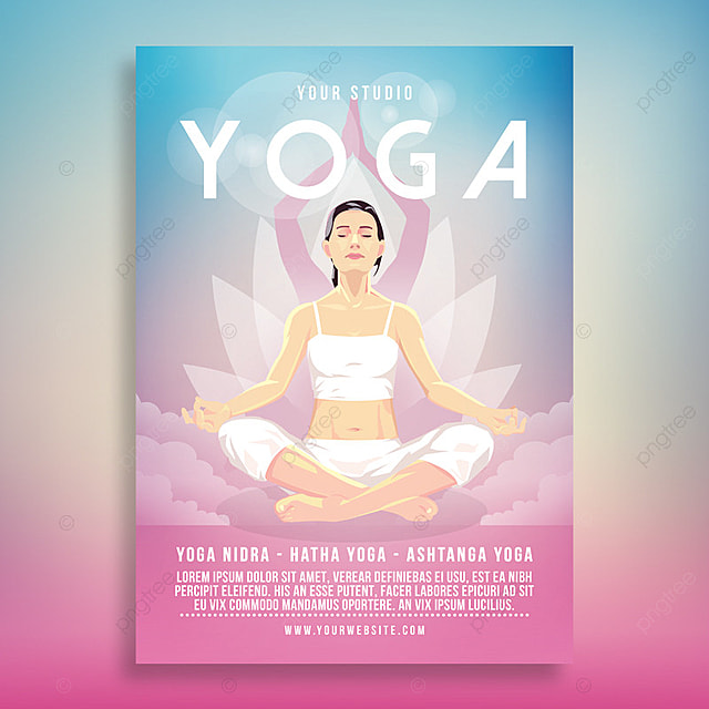 Yoga Flyer Poster Template For Free Download On Pngtree