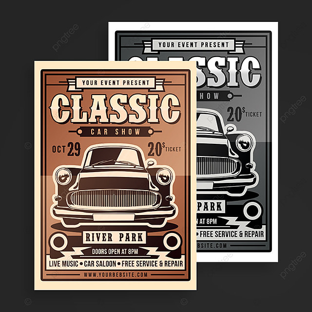 Classic Show Poster Template For Free Download On Pngtree - Classic car show poster template