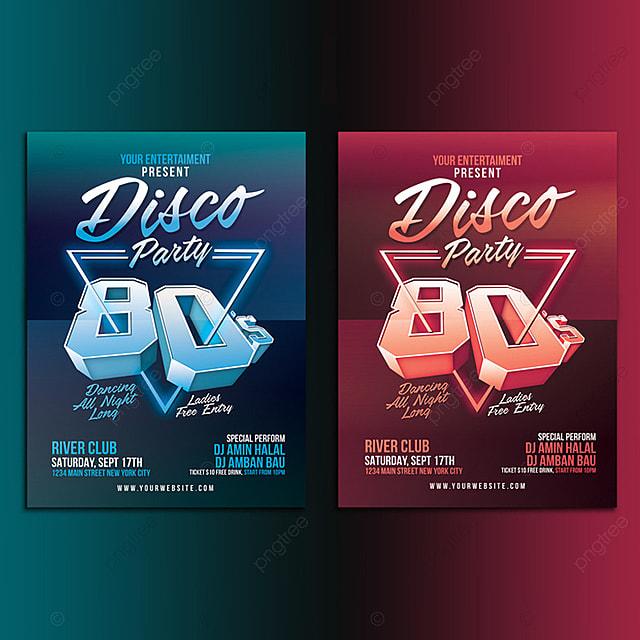 la soir u00e9e disco 80 mod u00e8le de t u00e9l u00e9chargement gratuit sur pngtree