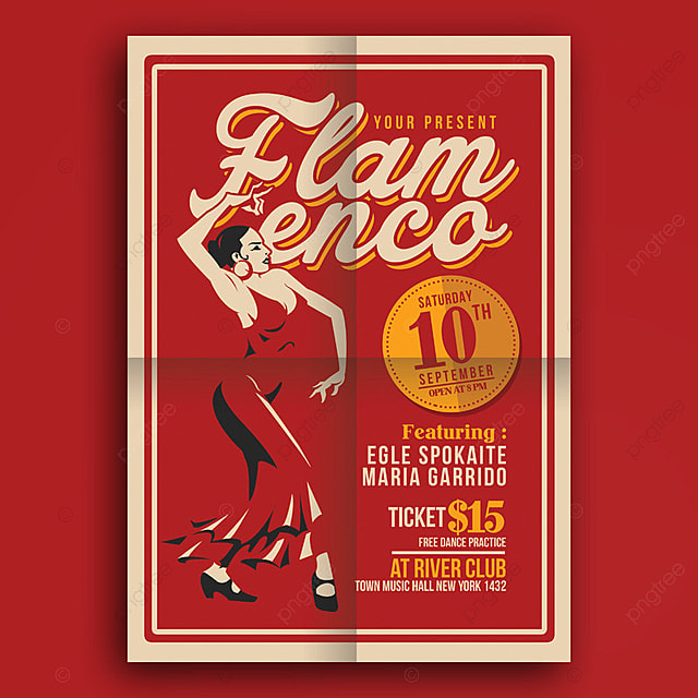 Flamenco Flyer Template Template For Free Download On Pngtree