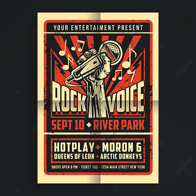 Rock voice concert template for free download on pngtree rock voice concert template saigontimesfo