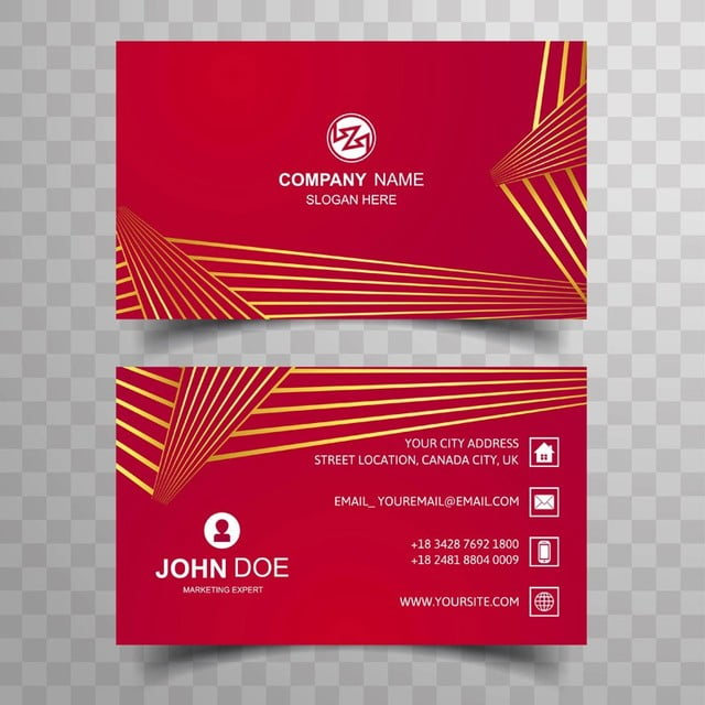 Creative And Clean Double Sided Business Card Template Template - Two sided business card template