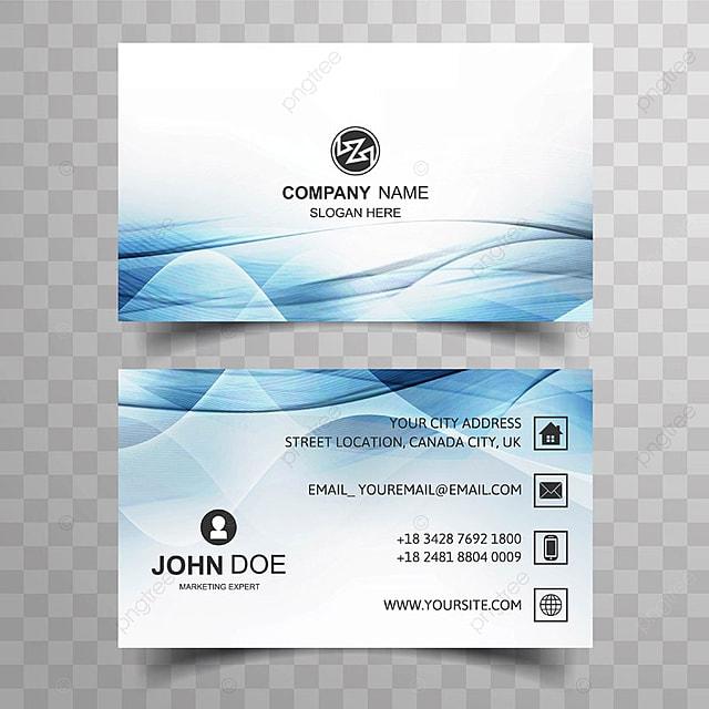 Visitenkarte Design Mit Blauen Welle Vorlage Vorlage Zum