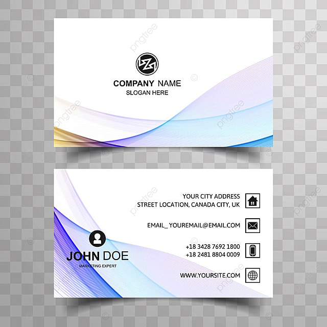 Abstract Beautiful Business Card Colorful Line Wave Design - Beautiful business card templates