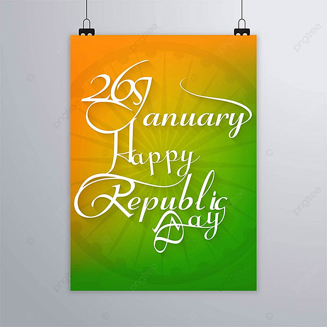 india republic day poster with lettering template for free download