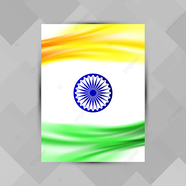 Abstract Indian Flag theme brochure design Template for Free ...