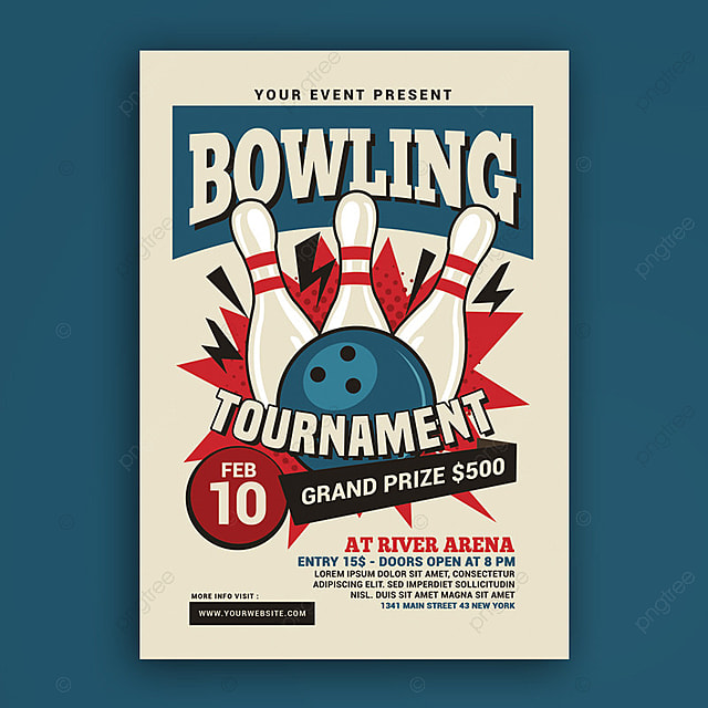 Bowling Tournament Flyer Template For Free Download On Pngtree