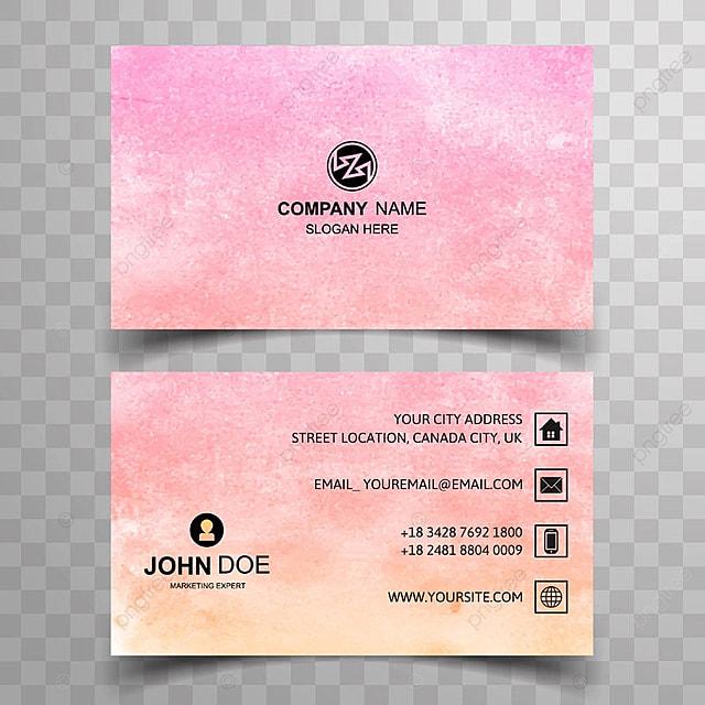 Abstrakte Aquarell Visitenkarte Design Vorlage Zum