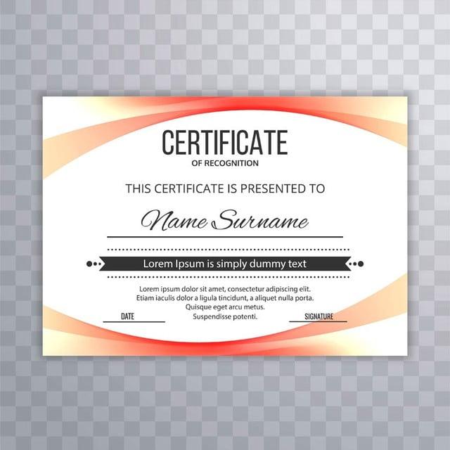 modern certificate template colorful wave design illustration ...