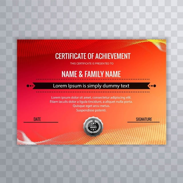 modern certificate template colorful design Template for Free ...
