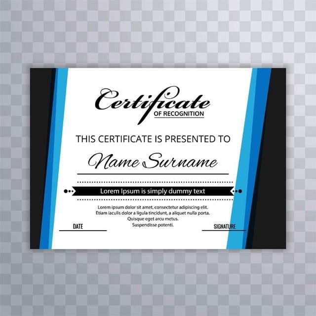 Plantilla de diploma certificado Premium premios de diseño creativo ...
