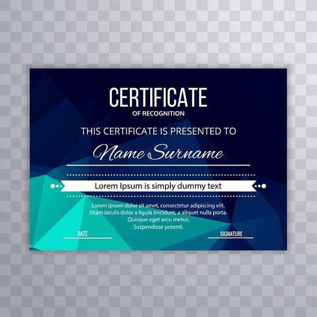Certificate Premium template awards diploma colorful ...