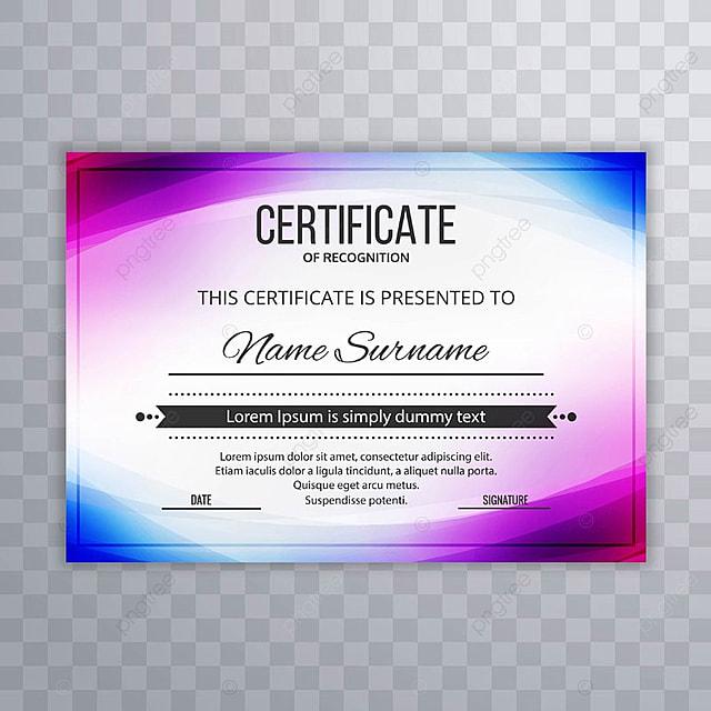 Plantilla de diploma certificado Premium Premios Onda ilustración ...