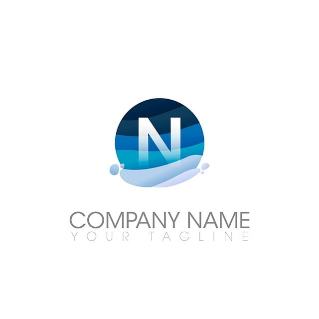 n letter logo template template for free download on pngtree