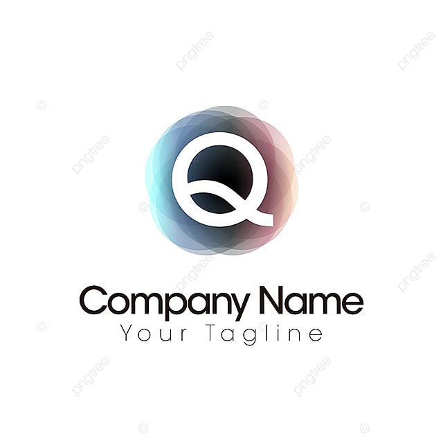 q letter logo template web logotype brand png and vector for