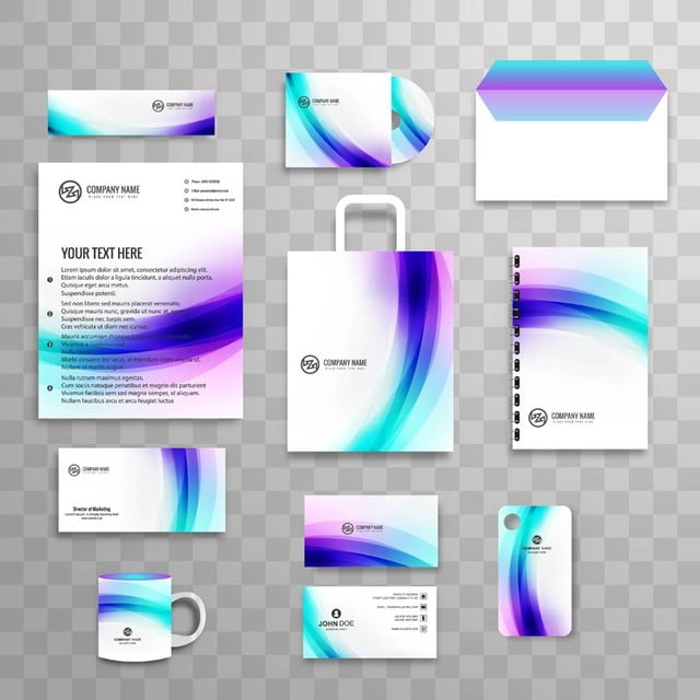 Abstract classic corporate identity business stationery template set abstract classic corporate identity business stationery template set with wave template friedricerecipe Images