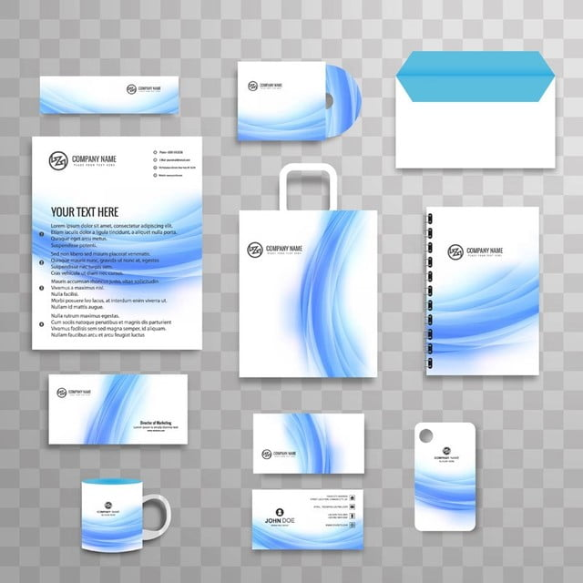 Abstract classic corporate identity business stationery template set abstract classic corporate identity business stationery template set with wave illustration template friedricerecipe Images