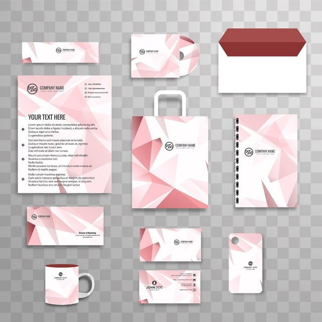 abstract classic corporate identity business stationery template set