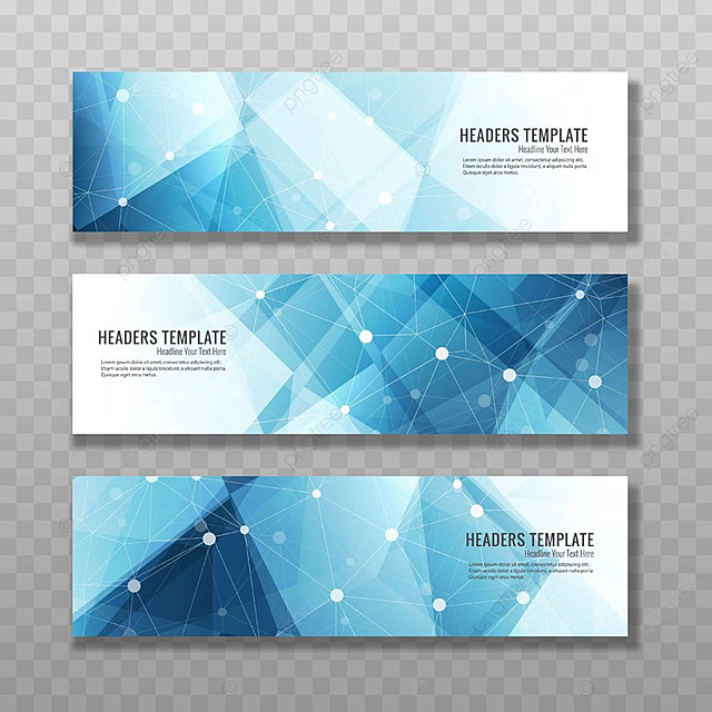 Modern Blue Polygon Banners Template For Free Download On