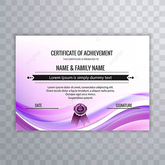 abstract creative certificate of appreciation award