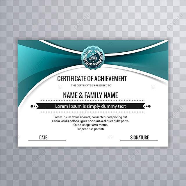 Resumen creativo certificado de premio de reconocimiento de ...