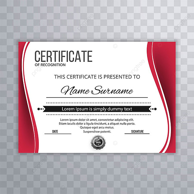 Abstract Creative Certificate Of Appreciation Award Template