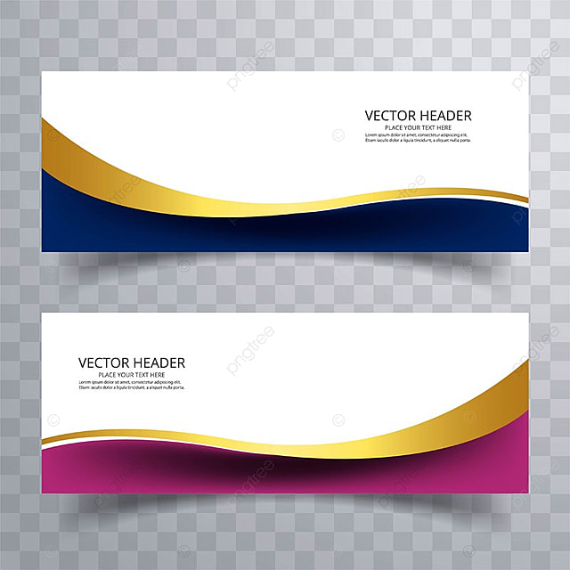 Abstract web banner design background or header Templates with wave ...