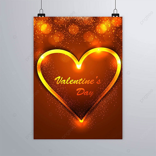 Beautiful Valentine S Day Poster Design Illustration Template For