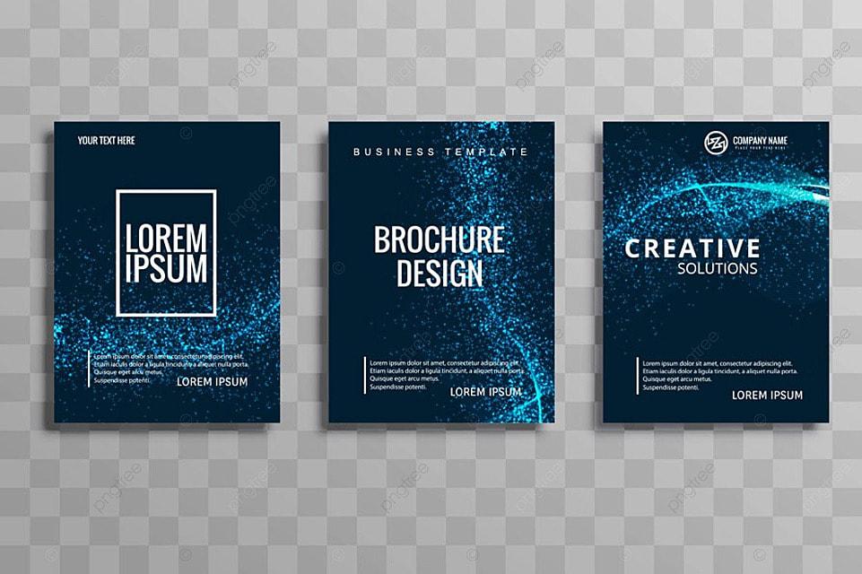 24a53e6c82122 Moderno diseño de onda folleto del negocio conjunto Descarga ...