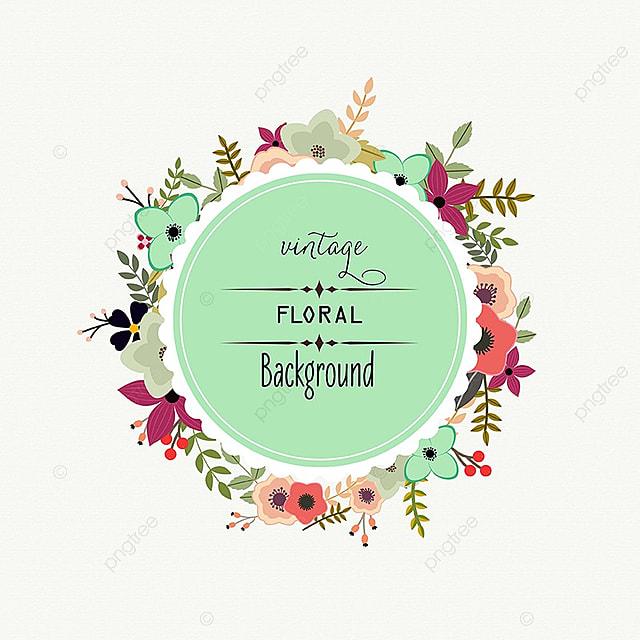 floral frame desgin