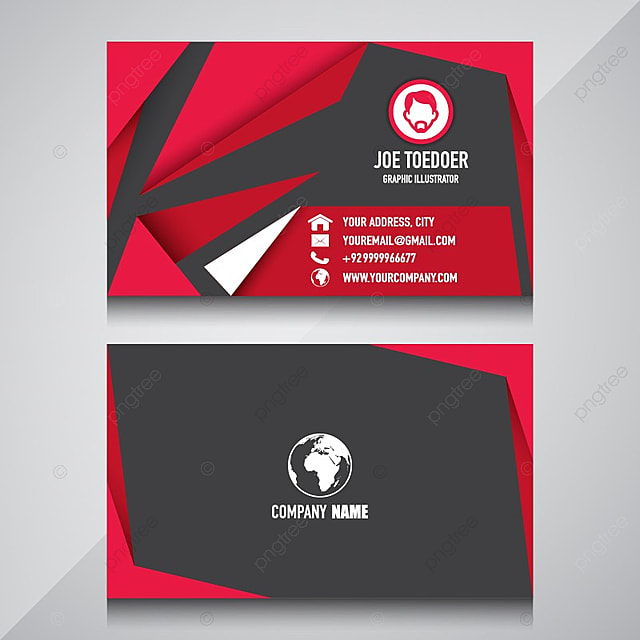 name card design for your company template for free