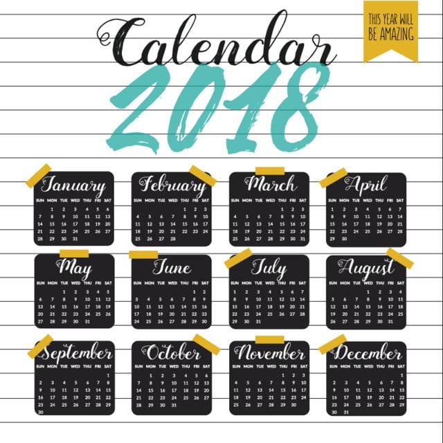 Calendario escolar 2011 Descarga gratuita de plantilla en Pngtree