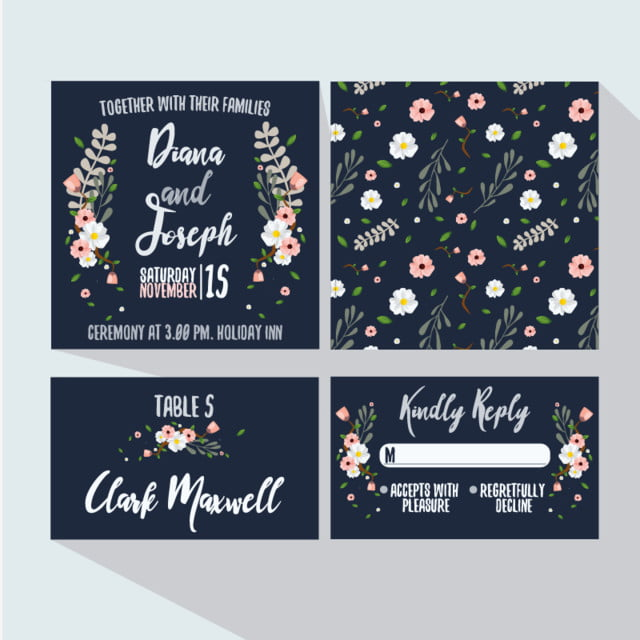 Wedding vectors 12477 graphic resources for free download fresh floral wedding invitation wedding invitation cute png and vector reheart Images