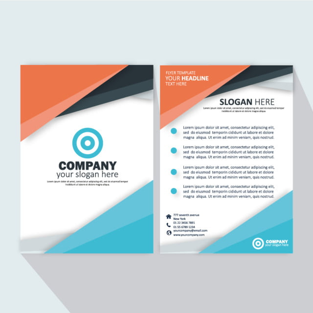 modern wavy business brochure template colorful template for free