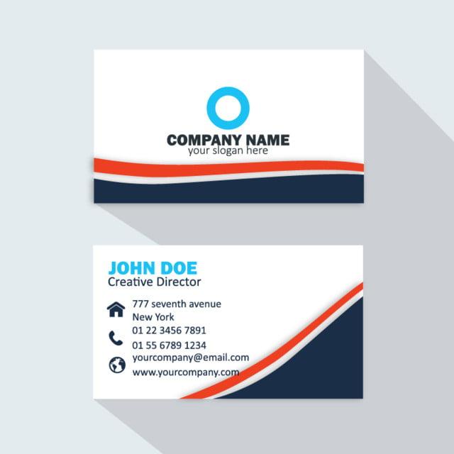Modern Professional Business Card Blue Template For Free Download On - Professional business cards templates