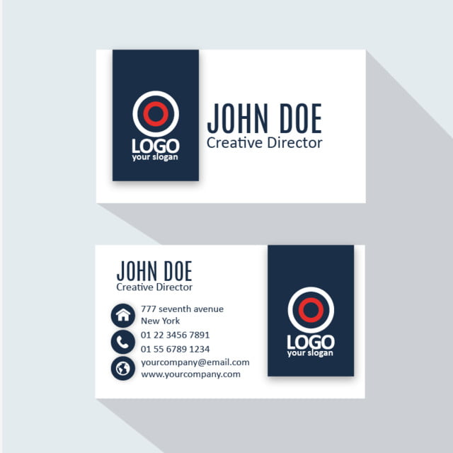 Professional Business Card Templates Free Download | Modern Professional Business Card Template For Free Download On Pngtree