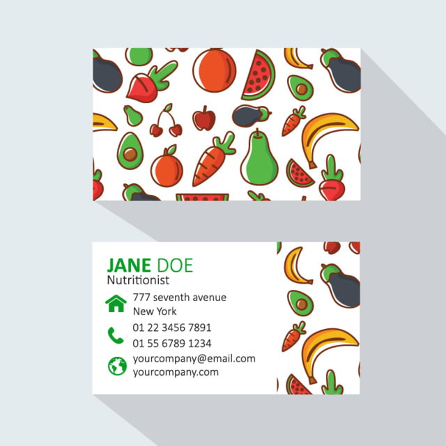 Modern professional business card nutrition template for free modern professional business card nutrition template colourmoves