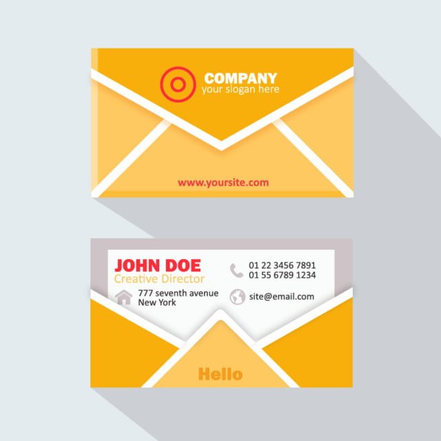 Modern Professional Business Card Email Template Free Download On - Email business card templates