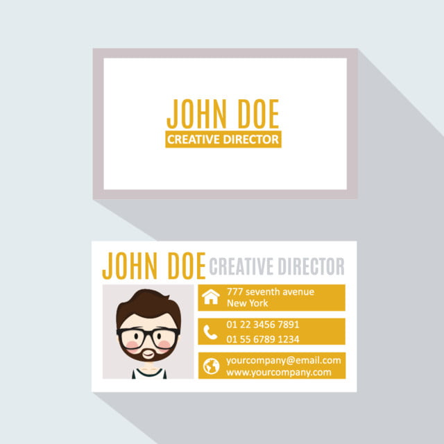 professional business card email template for free