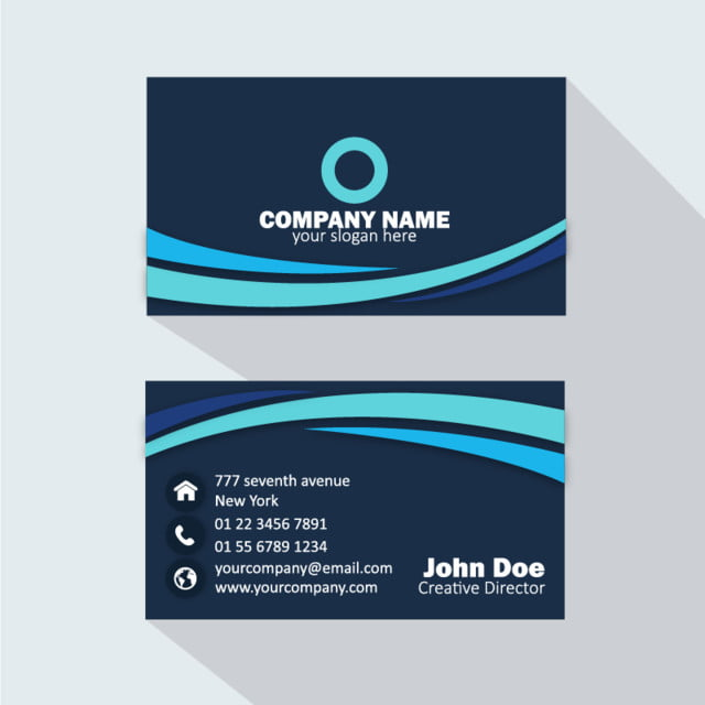Professional business card sky blue template for free download on professional business card sky blue template accmission