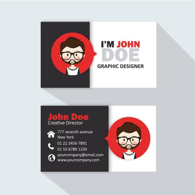 Professionelle Visitenkarten Logo Vorlage Zum Kostenlosen